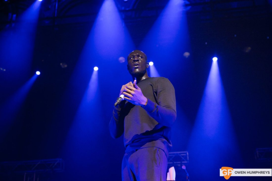Stormzy at The Olympia Theatre. Photo by Owen Humphreys www.owenhumphreys.com