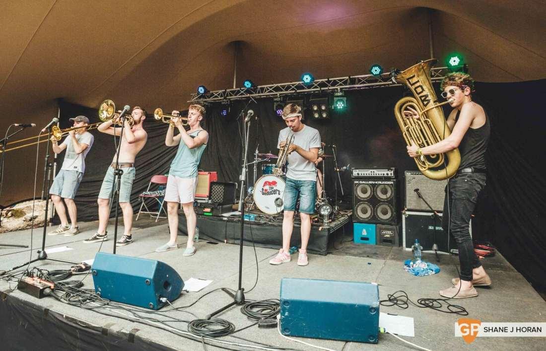 Code of Behaviour brass band, Townlands Carnival, Shane J Horan, 22-7-18 (1 of 1)