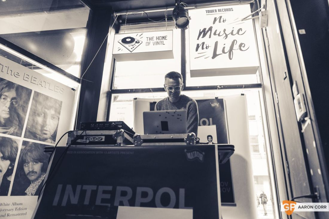 Sam Fogarino of Interpol DJ Set in Tower Records by Aaron Corr-8944