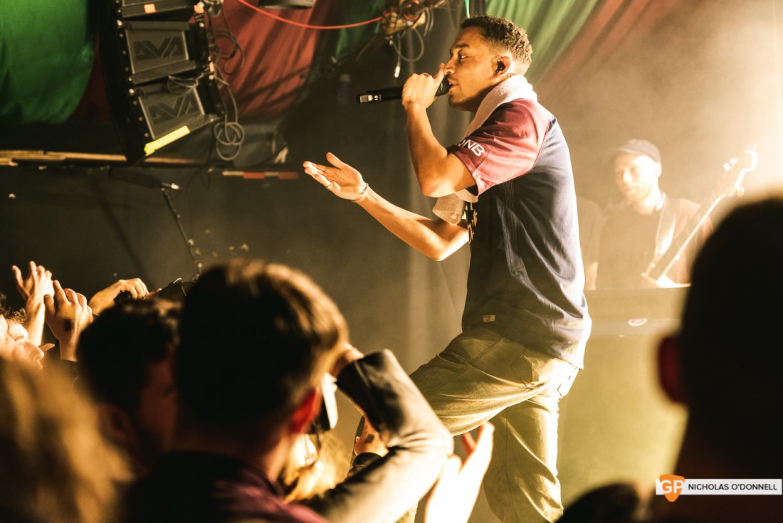Loyle Carner performing in The Grand Social. Photographs by Nicholas O'Donnell.