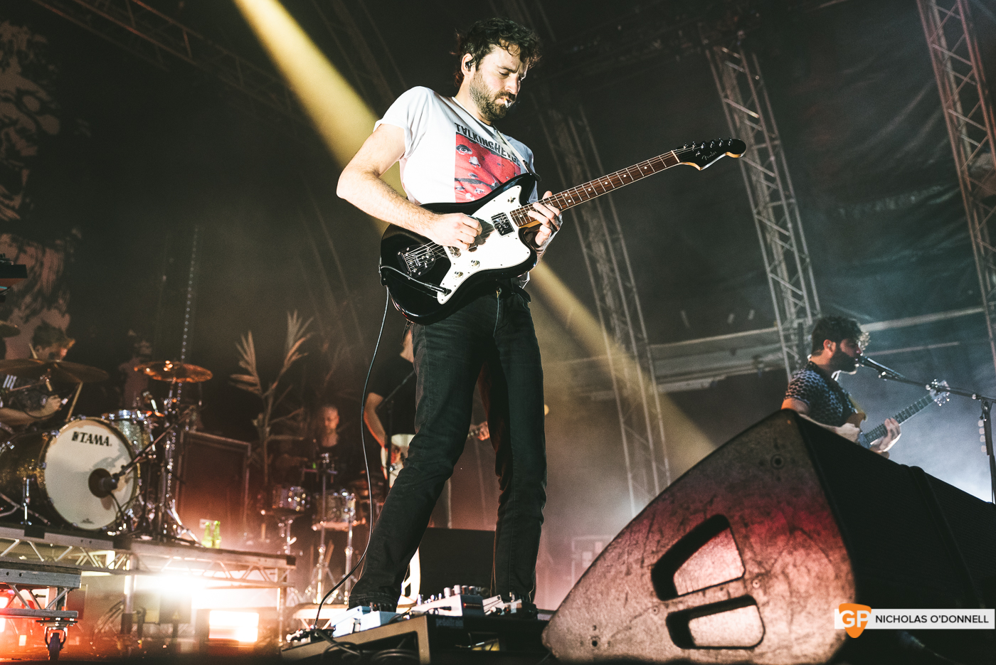 Foals performing at the Summer Series in Trinity College. Photographs by Nicholas O'Donnell. (9 of 19)