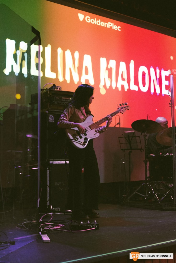 Melina Maone performing at GoldenPlec Jam Session. Photo by Nicholas O'Donnell