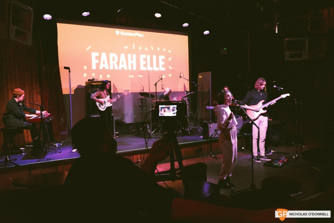 Farah Elle performing at GoldenPlec Jam Session. Photo by Nicholas O'Donnell