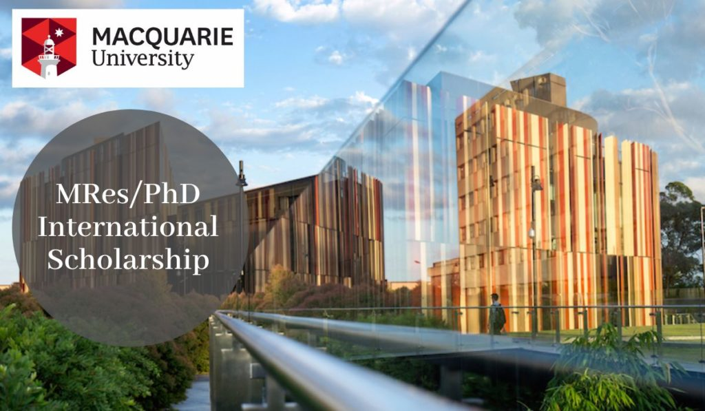 Macquarie University MRes and PhD International Scholarship in Genetic and Anatomical Basis, 2020