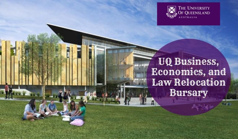 UQ Business Economics and Law Relocation Bursary for International Students in Australia, 2020