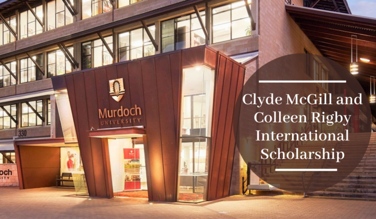 Clyde McGill and Colleen Rigby International Scholarship at Murdoch University in Australia, 2020
