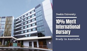 Deakin International Merit Bursary in Australia, 2021