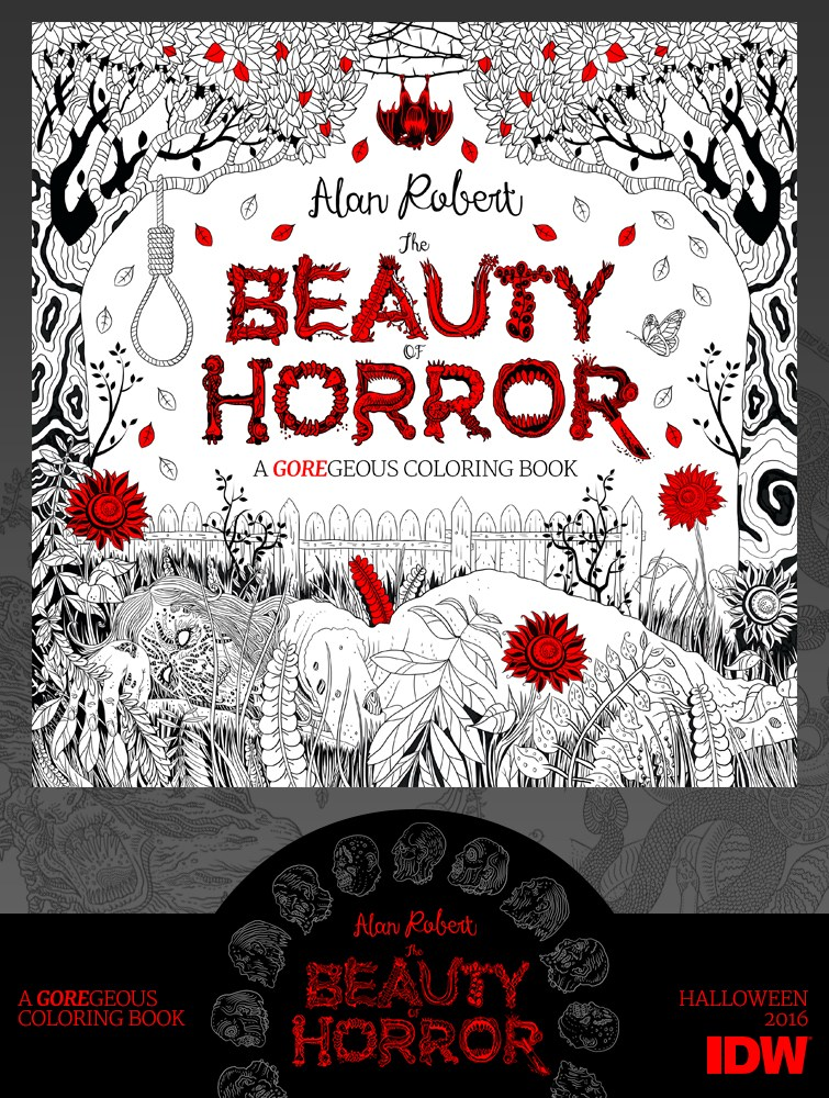 IDW Publishing's Beauty of Horror Coloring Book Coming ...