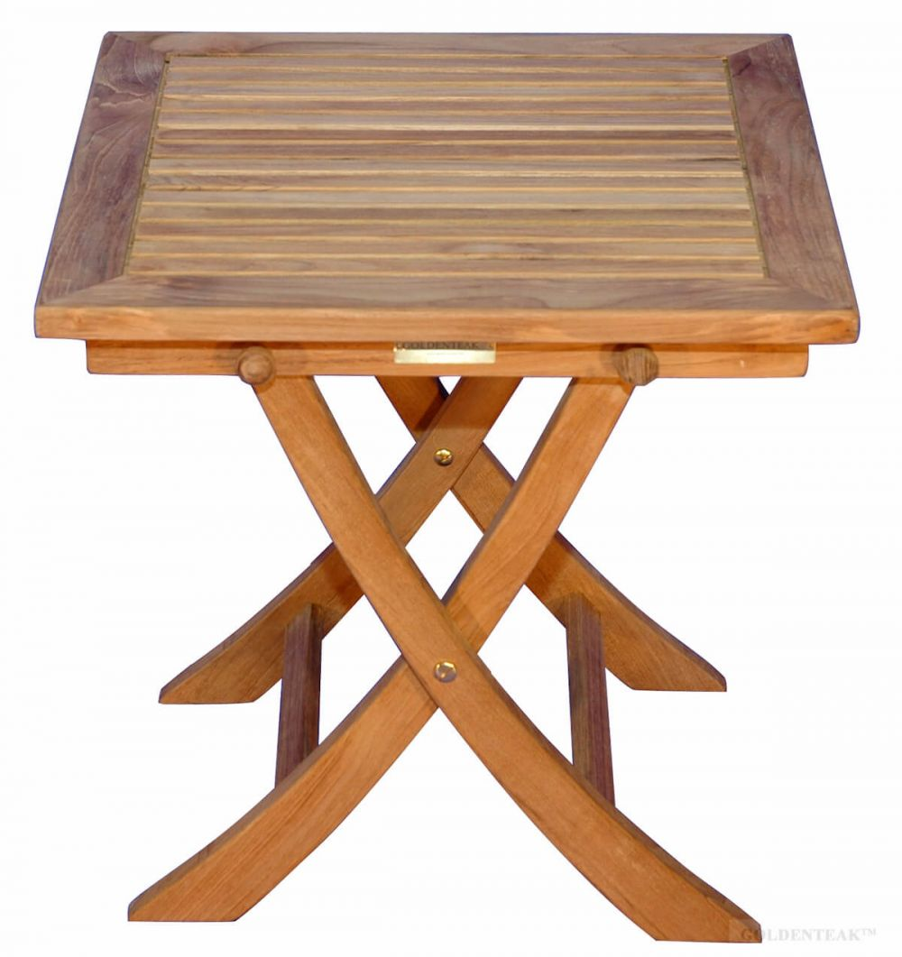 Teak Side Square Folding Table Teak End Table Teak Side Table