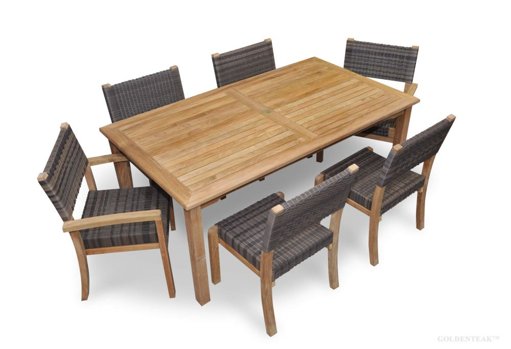 teak westport dining set for 6 teak wicker stacking chairs