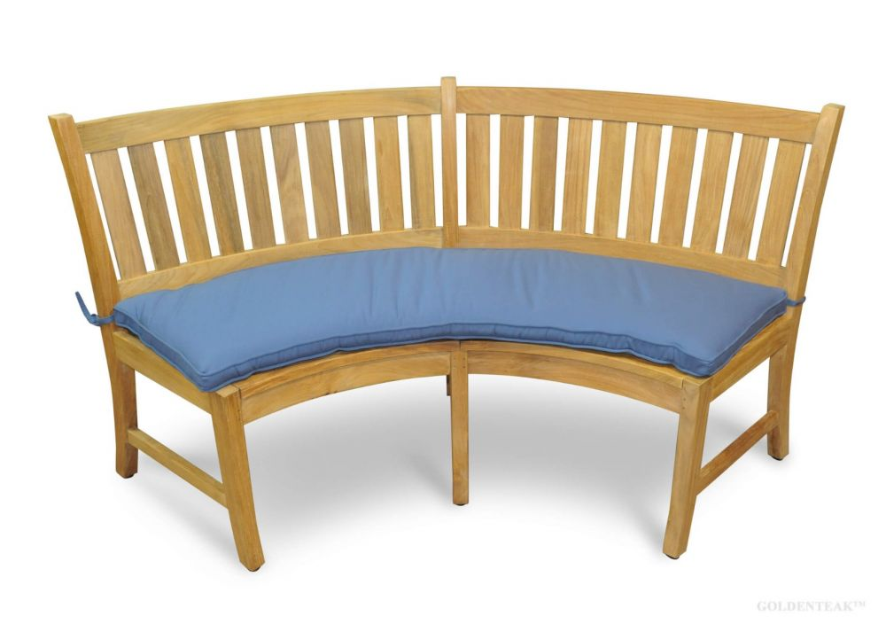 custom cushion for curved circular bench r tb na
