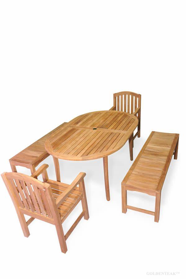 teak patio picnic set bristol oval