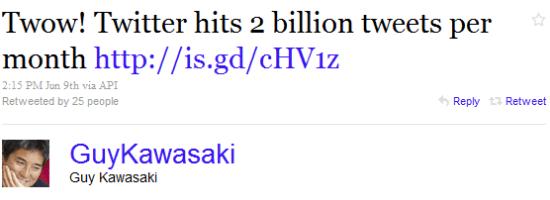 Tweets from Twitterati
