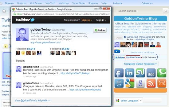 Twitter Follow Button