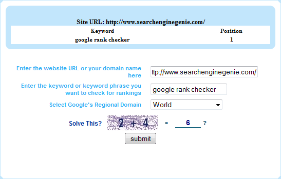Google Position Checker