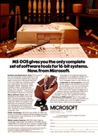 MS-DOS Advertisement in 1981