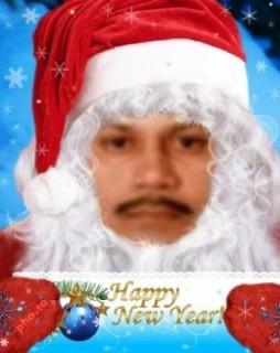 Santa with Postcard
