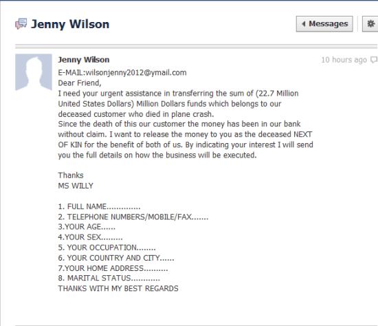 Scam Message