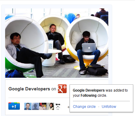 Google+ Badge Update