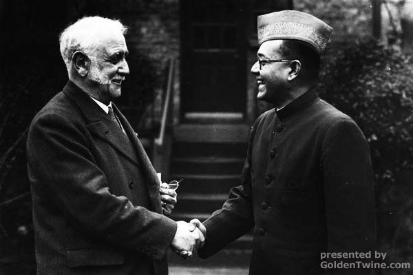 Subhas Bose with George Lansbury