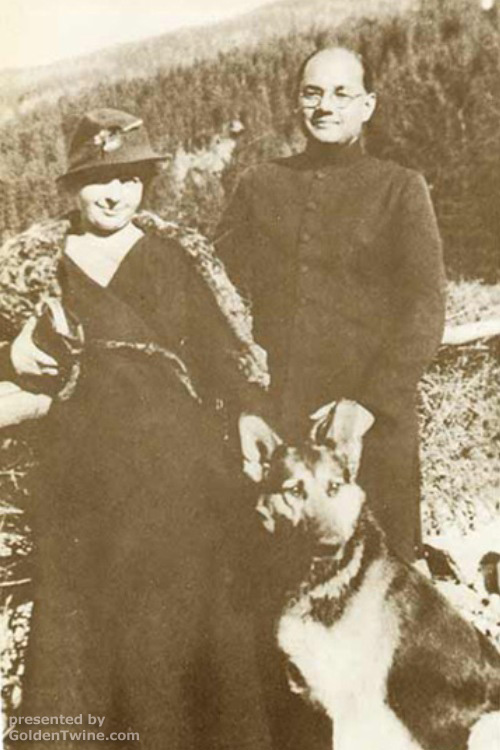Subhas Bose with Emilie Schenkl