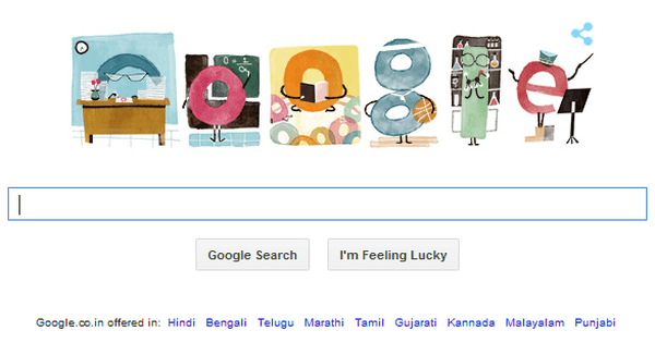 Teachers' Day Google Doodle