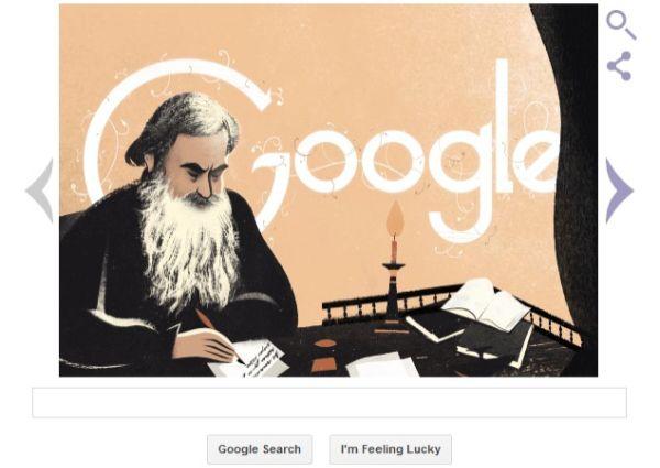 Leo Tolstoy Google Doodle