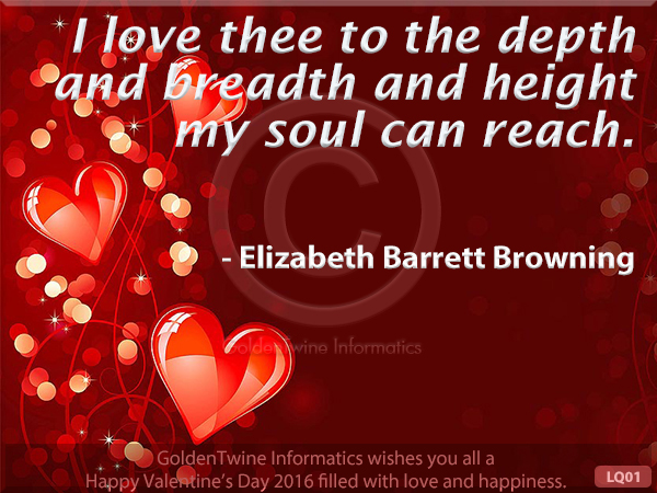 Picture Love Quote - Elizabeth Barrett Browning