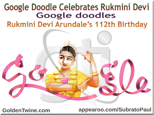 Google Doodle - Rukmini Devi Arundale