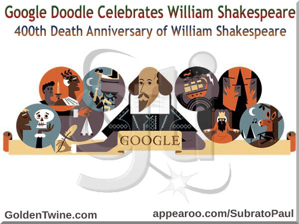 Celebrating William Shakespeare Google Doodle