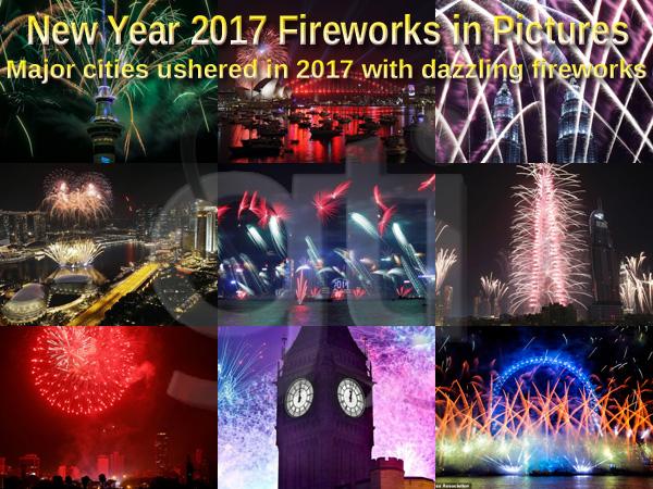 Dazzling New Year 2017 Fireworks Photos