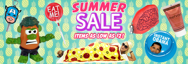 Summer Sale Items as low as $2 from Stupid.com