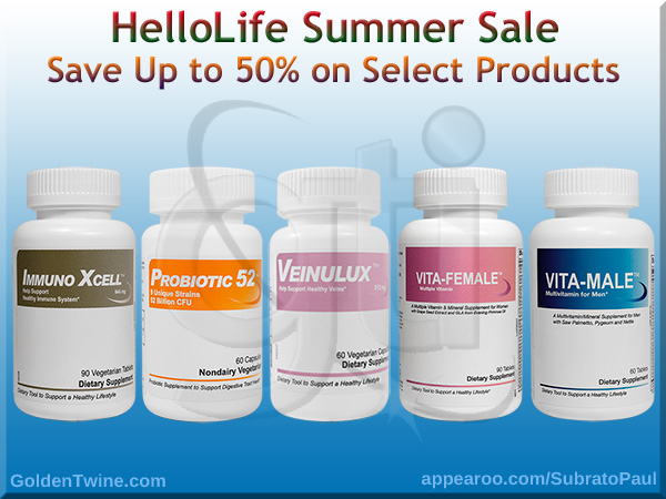 HelloLife Summer Sale - Save Up to 50% on Select Products