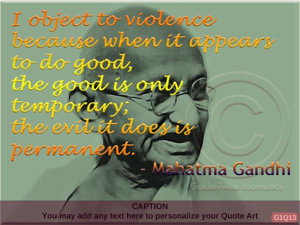 Mahatma Gandhi Quote G1Q13
