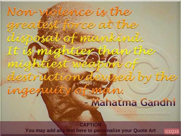 Mahatma Gandhi Quote G1Q15