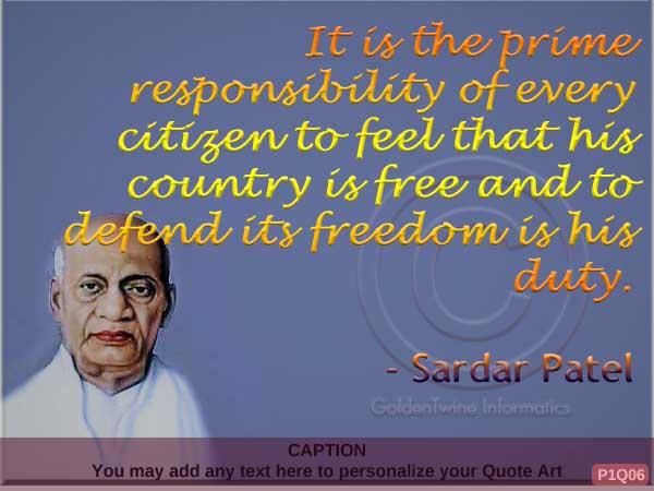 Sardar Patel Quote P1Q06