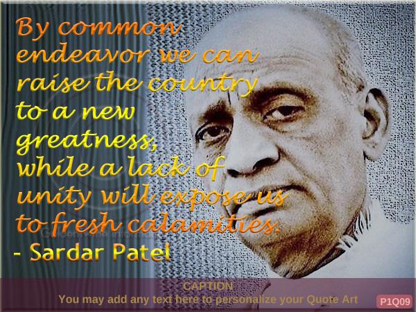 Sardar Patel Quote P1Q09