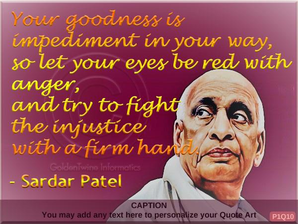 Sardar Patel Quote P1Q10