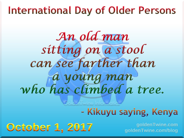 Kenya Saying about Old Person and Young Person