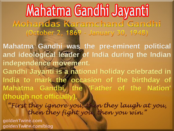 Birth Anniversary of Mahatma Gandhi