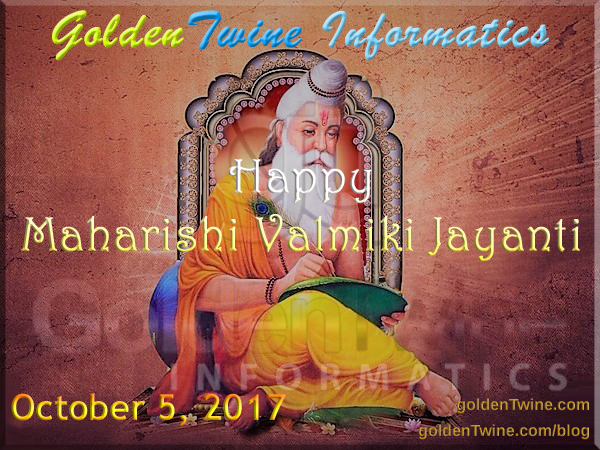 Indian Festival of Maharishi Valmiki Jayanti 2017