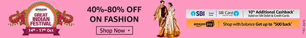 40% to 80% Off on Fashion