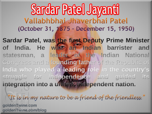 Birth Anniversary of Sardar Patel