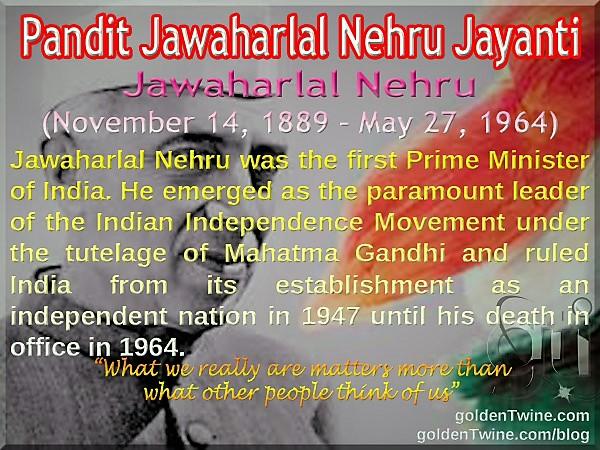 Birth Anniversary of Jawaharlal Nehru
