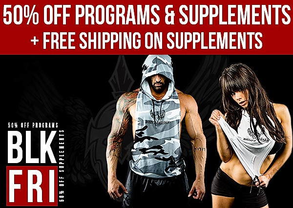 Black Friday and Cyber Monday Sale at BodySpartan