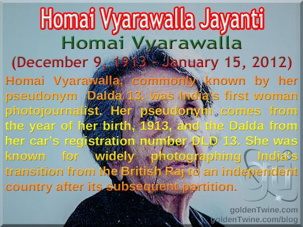 Homai Vyarawalla Jayanti