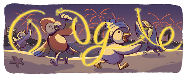New Year's Eve 2017 Google Doodle - Image 4