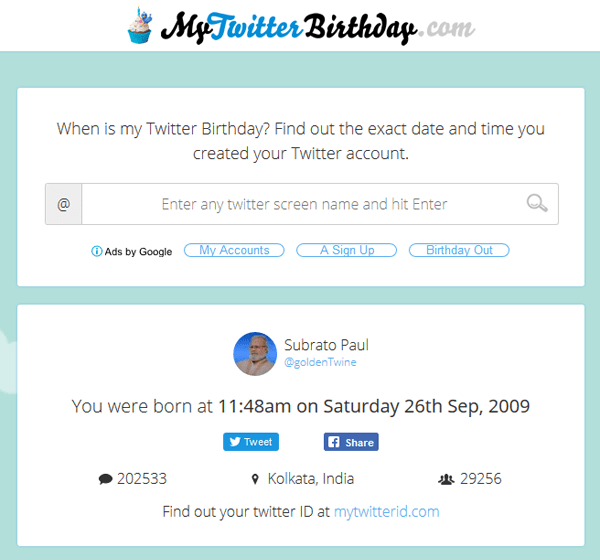 My Twitter Birthday