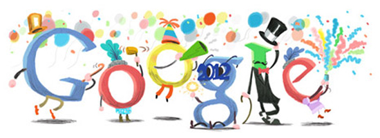 New Year's Eve 2011 Google Doodle