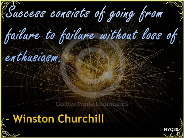 New Year Quote by Winston Churchill - NYQ20